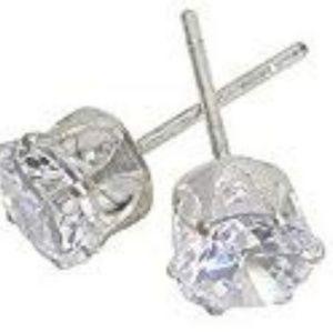 Jewelry - New Cubic Zirconia Stud Sterling Silver Earrings
